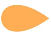 Pétalo naranja 90 grados